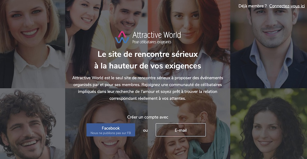 Test du site de rencontre Attractive World.